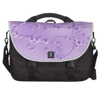 Bolso púrpura del ordenador portátil del flor de l bolsa para ordenador