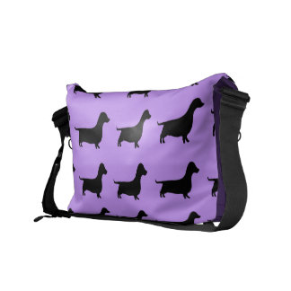 Bolso púrpura del perro de la salchicha de Frankfu Bolsas De Mensajería