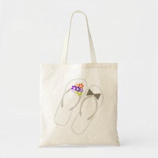 bolso púrpura del regalo de boda de los flips-flop bolsa de mano