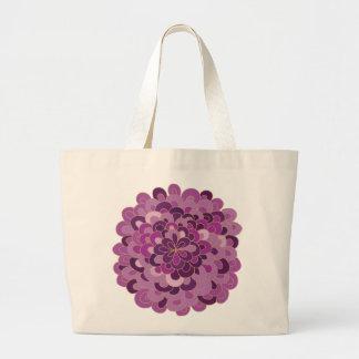 Bolso púrpura floreciente de la flor bolsa de mano