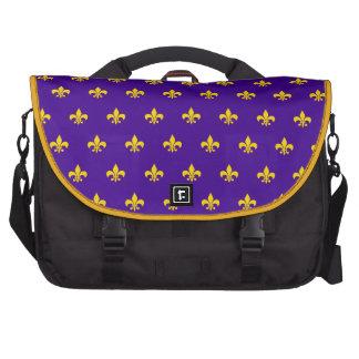 """Bolso """"púrpura"""" francés real del viajero del bolsa de ordenador"""