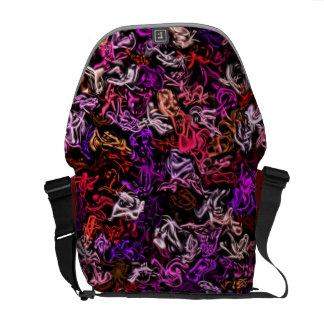 Bolso púrpura rojo de la Mezcla-Para arriba Bolsa De Mensajeria