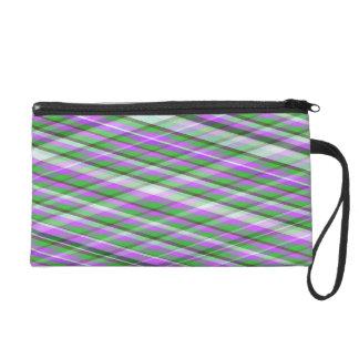 Bolso púrpura, rosado y verde del mitón de la tela