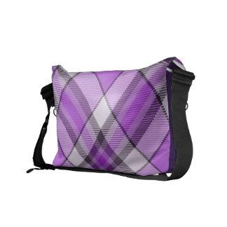 Bolso púrpura y de la lila del tartán de Mesenger Bolsa Messenger