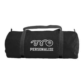Bolso que rueda personalizado con el monograma bolsa de deporte