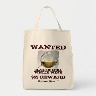 ¡Bolso querido del vino blanco! Bolsa Tela Para La Compra
