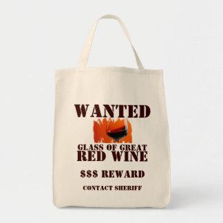 ¡Bolso querido del vino rojo! Bolsa Tela Para La Compra