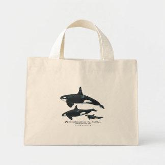 Bolso rayado de la familia de la orca bolsa de tela pequeña