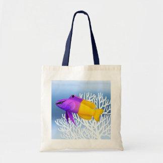 Bolso real de los pescados del arrecife de coral bolsa tela barata