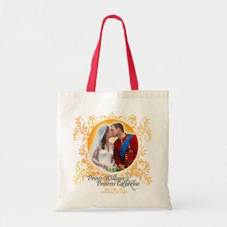 Bolso real del beso del boda de Guillermo y de Kat Bolsa Tela Barata