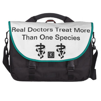 Bolso real del ordenador portátil de los doctores bolsas para ordenador