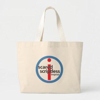 Bolso redondo asustado del logotipo del sello de S Bolsa De Tela Grande