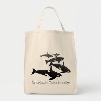 Bolso respetuoso del medio ambiente de la orca de