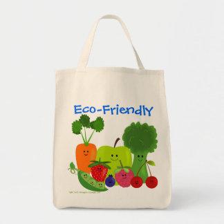 Bolso respetuoso del medio ambiente de las frutas bolsa tela para la compra