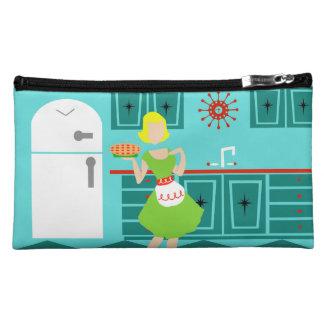 Bolso retro adaptable del cosmético de la cocina