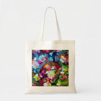 Bolso retro adornado y colorido de la flor bolsa
