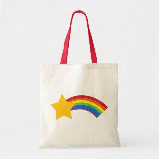 bolso retro de la estrella fugaz del arco iris del bolsa tela barata