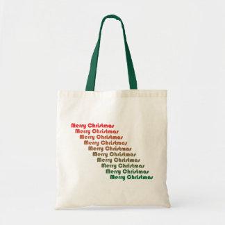Bolso retro de las Felices Navidad Bolsa De Mano