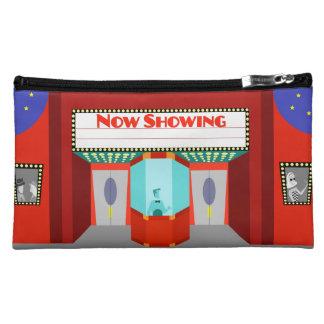 Bolso retro del cosmético de Sueded del cine