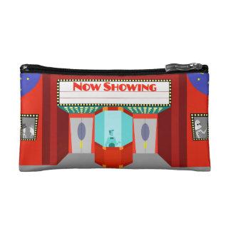 Bolso retro del cosmético del cine