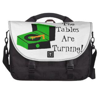 Bolso retro del ordenador portátil del viajero del bolsas de ordenador