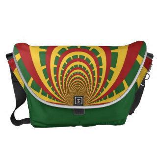 Bolso RETRO FRESCO de Jamaica Rasta del vintage de Bolsa Messenger