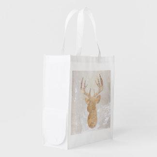 Bolso reutilizable cabeza de corzo bolsas para la compra