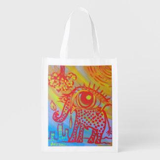 bolso reutilizable con imagen del elefante bolsa para la compra