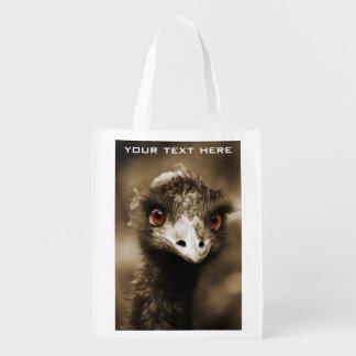 Bolso reutilizable de encargo de la mirada de las bolsas para la compra