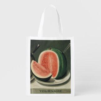"""Bolso reutilizable de encargo de los """"melones"""" bolsas para la compra"""