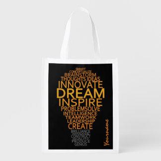 Bolso reutilizable de encargo inspirado de la bolsas reutilizables