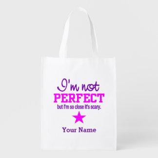 Bolso reutilizable de encargo no perfecto bolsa de la compra