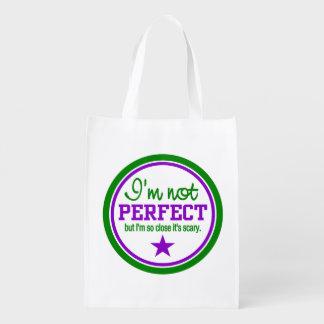 Bolso reutilizable de encargo no perfecto bolsa reutilizable