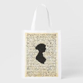 Bolso reutilizable de Jane Austen del orgullo y Bolsa De La Compra