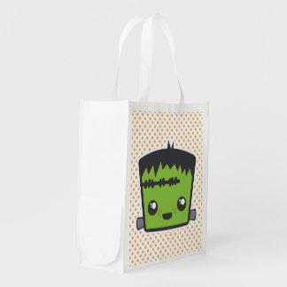 Bolso reutilizable de Kawaii Frankenstein Bolsa Reutilizable