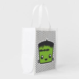 Bolso reutilizable de Kawaii Frankenstein Bolsas De La Compra