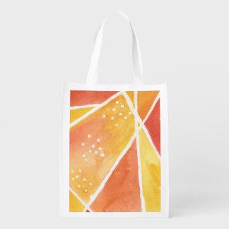 Bolso reutilizable de la acuarela abstracta bolsa de la compra