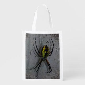 Bolso reutilizable de la araña fantasmagórica bolsas reutilizables