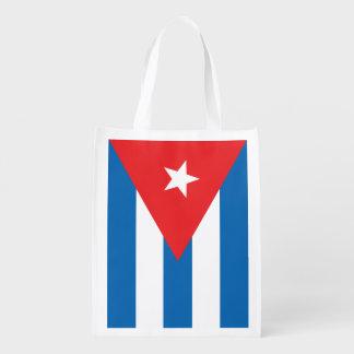 Bolso reutilizable de la bandera cubana bolsa para la compra