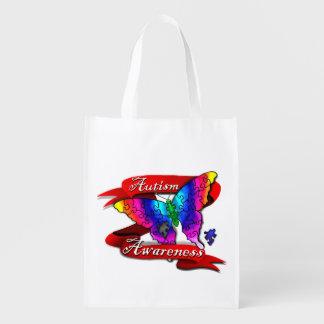 Bolso reutilizable de la bandera de la conciencia bolsa de la compra