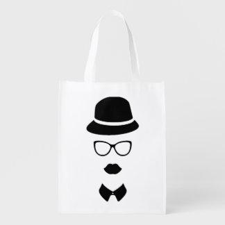Bolso reutilizable de la cara del inconformista bolsas de la compra