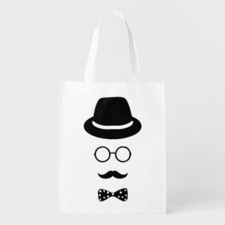 Bolso reutilizable de la cara del inconformista bolsas para la compra