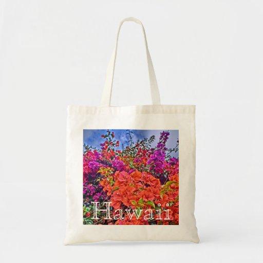 Bolso reutilizable de la flor brillante del bougai bolsas de mano