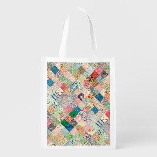 Bolso reutilizable de la impresión del remiendo bolsas para la compra