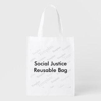 Bolso reutilizable de la justicia social bolsas para la compra