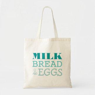 Bolso reutilizable de la leche del pan y de ultra bolsa lienzo