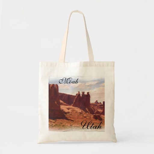 Bolso reutilizable de la lona de Moab Utah Bolsa Tela Barata