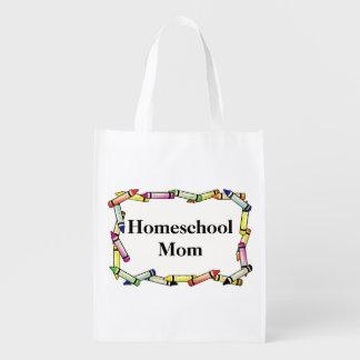 Bolso reutilizable de la mamá de Homeschool Bolsas Reutilizables