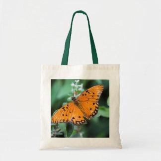 Bolso reutilizable de la mariposa anaranjada bolsa tela barata