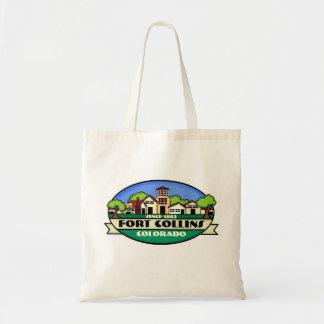 Bolso reutilizable de la pequeña ciudad de Fort Co Bolsas